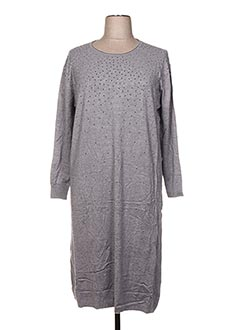 Robe pull gris F&8 pour femme