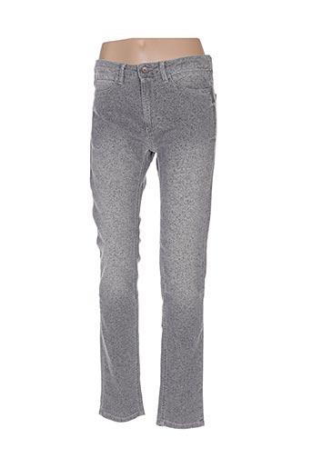 Pantalon casual gris BENETTON pour femme