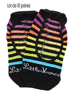 Chaussettes noir LITTLE MARCEL pour fille