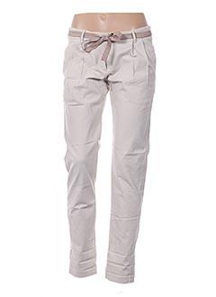 Pantalon casual beige HARTFORD pour femme