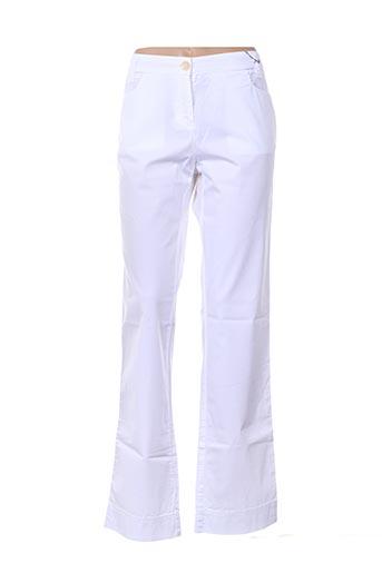 Pantalon casual blanc CROSSWAYS pour femme