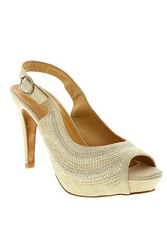 Sandales/Nu pieds beige ESTEFANIA MARCO pour femme