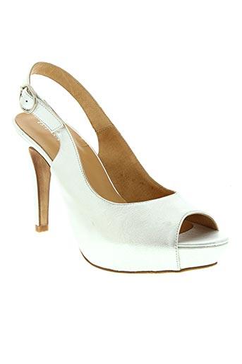 Sandales/Nu pieds gris ESTEFANIA MARCO pour femme