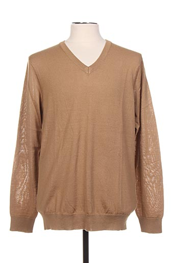 Pull col V marron CASUAL FRIDAY pour homme