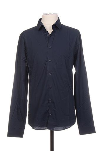 Chemise manches longues bleu CASUAL FRIDAY pour homme