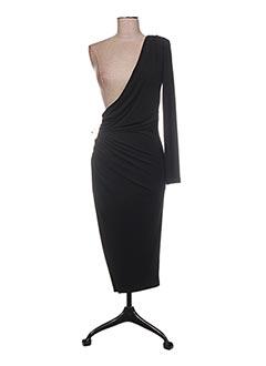 Robe mi-longue noir GUESS BY MARCIANO pour femme