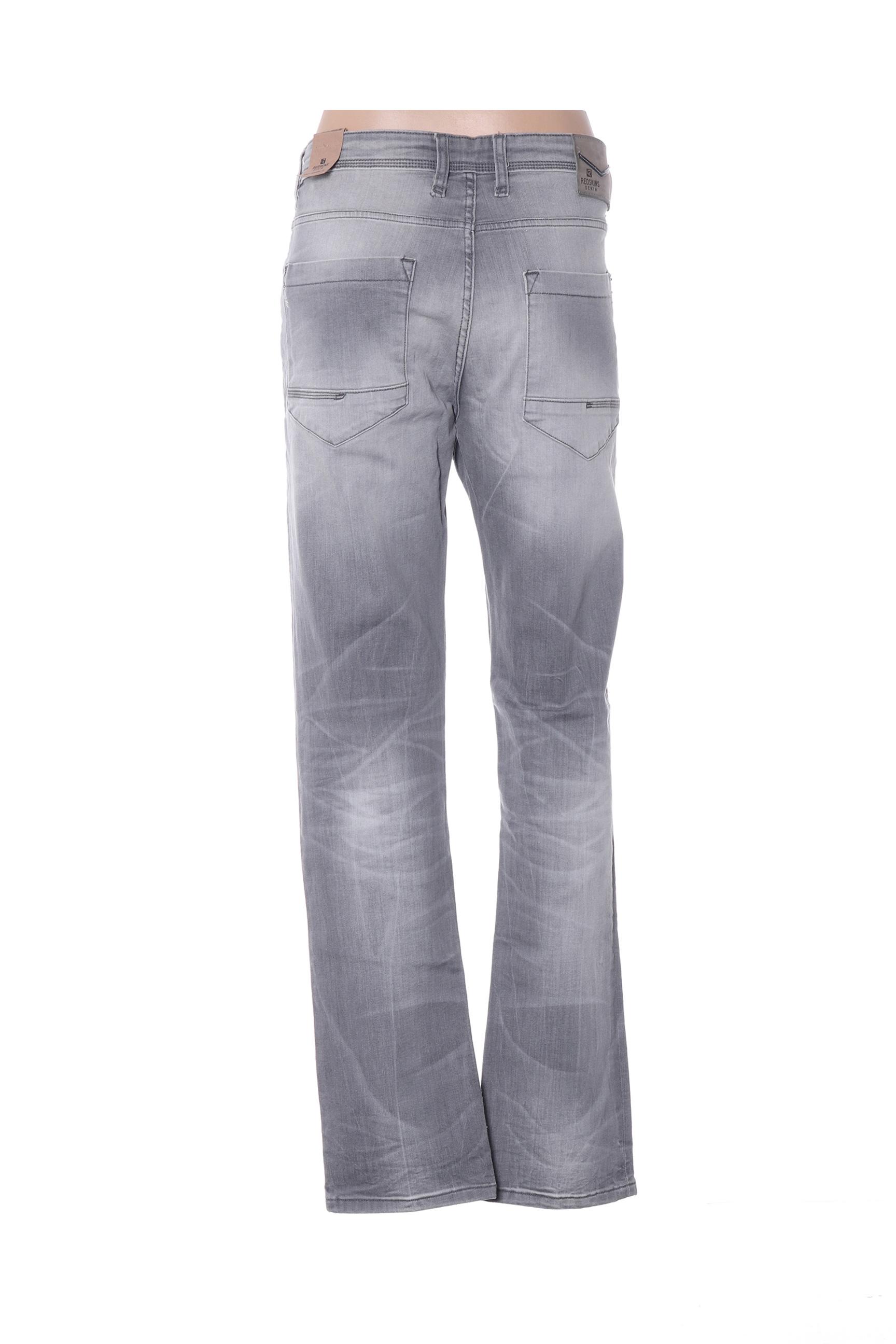 Redskins Jeans Coupe Droite Femme De Couleur Gris En Soldes Pas Cher 1386716-gris00