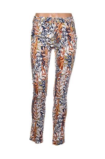 Pantalon casual orange BO'AIME pour femme
