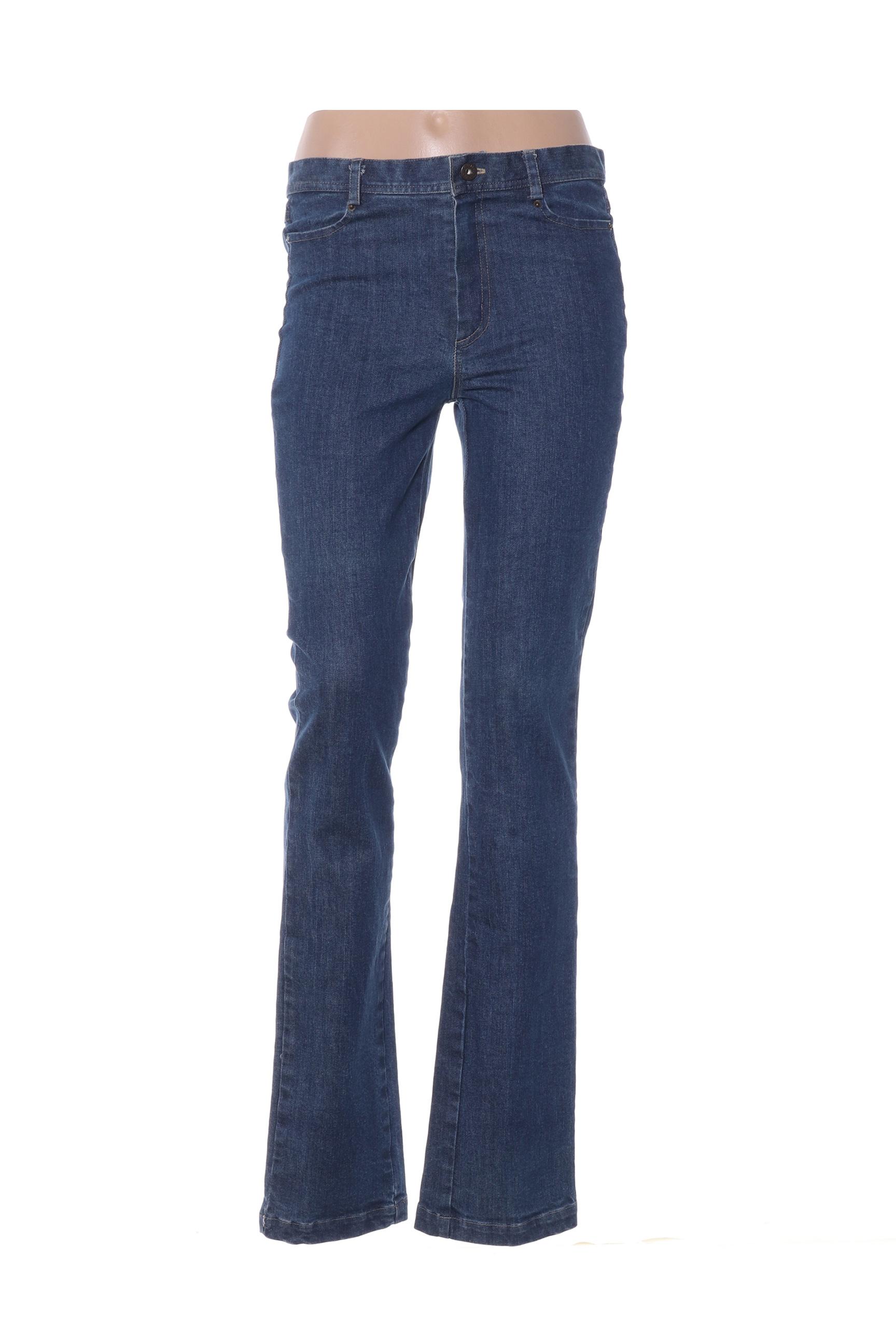 Multiples Jeans Coupe Droite Femme De Couleur Bleu En Soldes Pas Cher 1385954-bleu00 - Modz