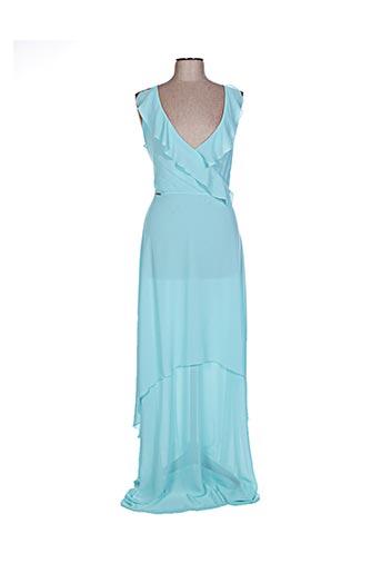 Robe longue bleu CARLA MONTANARINI pour femme