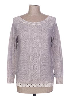 Pull col rond gris PAUL SMITH pour femme