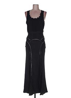Robe longue noir POUPÉE DE SOIE pour femme