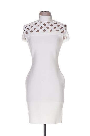 Robe courte blanc POUPÉE DE SOIE pour femme