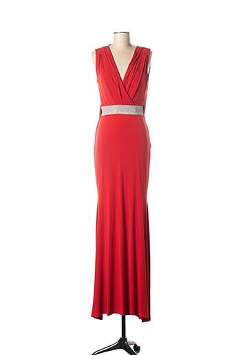 Robe longue rouge POUPÉE DE SOIE pour femme