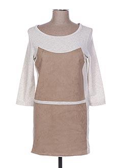 Robe mi-longue gris POUPÉE DE SOIE pour femme