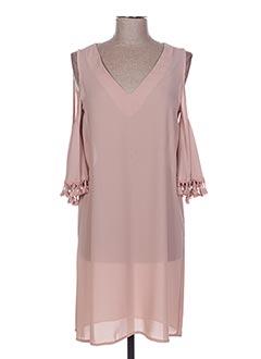 Robe mi-longue rose POUPÉE DE SOIE pour femme