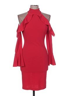 Robe mi-longue rouge POUPÉE DE SOIE pour femme