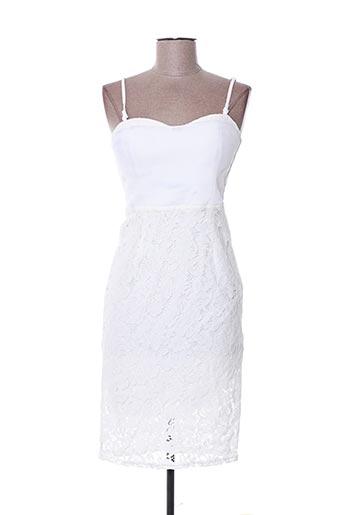 Robe mi-longue blanc POUPÉE DE SOIE pour femme