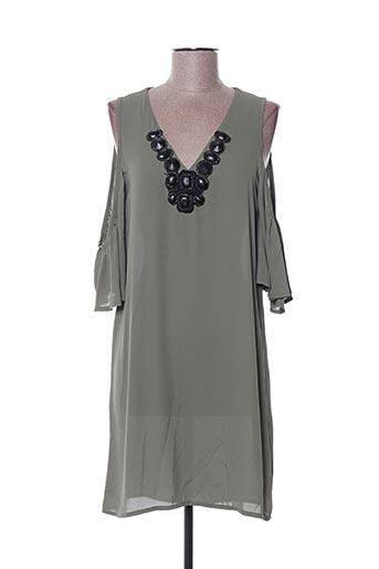 Robe mi-longue vert POUPÉE DE SOIE pour femme