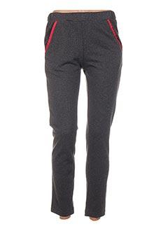 Pantalon 7/8 gris POUPÉE DE SOIE pour femme