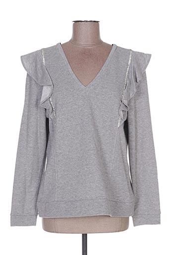 Sweat-shirt gris POUPÉE DE SOIE pour femme
