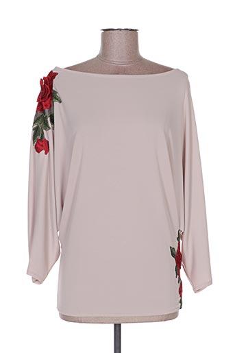 T-shirt manches longues beige POUPÉE DE SOIE pour femme