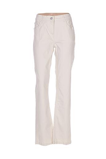 Jeans coupe droite beige AIGLE pour homme