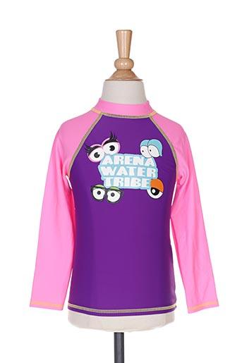 Haut de maillot de bain violet ARENA pour fille