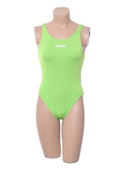 Maillot de bain 1 pièce vert ARENA pour femme