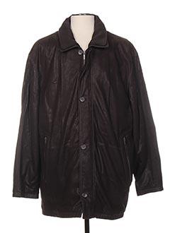 Veste en cuir marron SMARTY pour homme