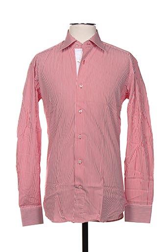 Chemise manches longues rouge CERRUTI 1881 pour homme