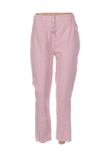 Pantalon 7/8 rose CHANTAL B. pour femme