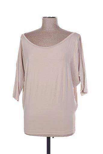 T-shirt manches longues beige D.EXTERIOR pour femme