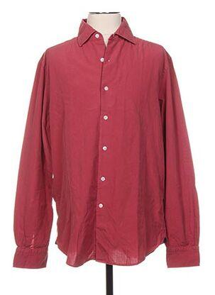 Chemise manches longues rouge BREUER pour homme