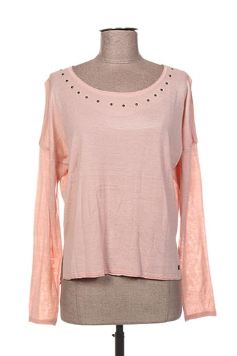 Pull col rond rose BECKARO pour fille
