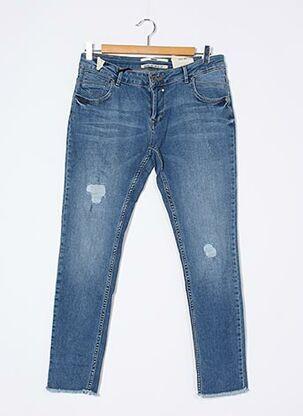 Jeans coupe slim bleu COCCARA pour femme
