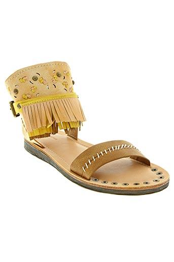 Sandales/Nu pieds beige DELIRES DE FILLE pour femme