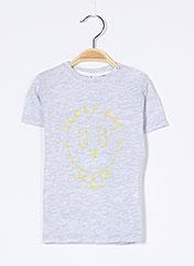 T-shirt manches courtes gris 3 POMMES pour garçon seconde vue