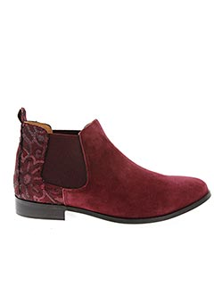 Bottines/Boots rouge AXELL pour femme