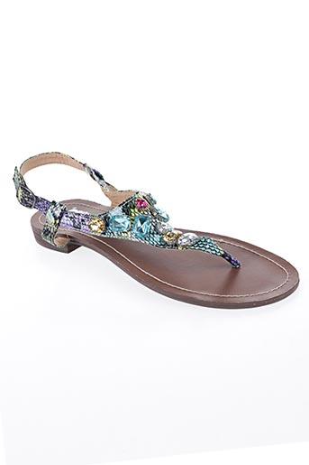Sandales/Nu pieds bleu CASSIS COTE D'AZUR pour femme