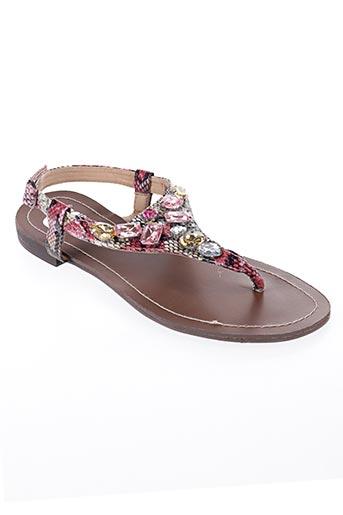 Sandales/Nu pieds rose CASSIS COTE D'AZUR pour femme