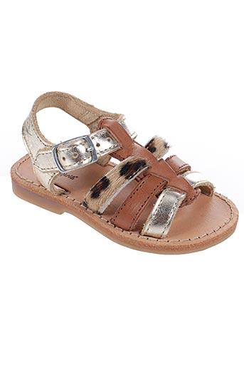 Sandales/Nu pieds marron REQINS pour fille