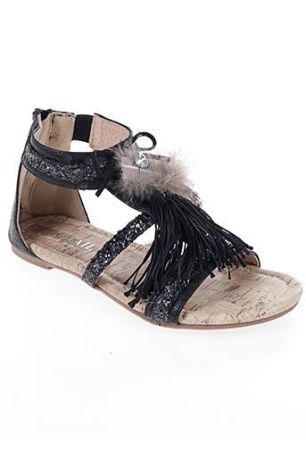 Sandales/Nu pieds noir COC'TAIL pour fille