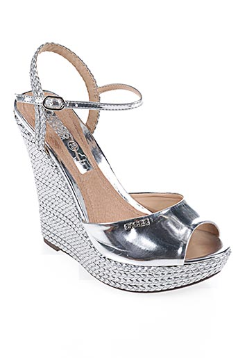 Sandales/Nu pieds gris CASSIS COTE D'AZUR pour femme