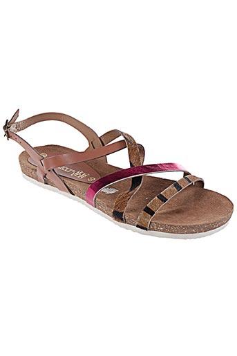 Sandales/Nu pieds marron ILARIO FERUCCI pour femme