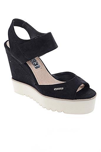Sandales/Nu pieds noir CASSIS COTE D'AZUR pour femme