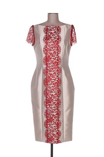 Robe mi-longue beige FELY CAMPO pour femme