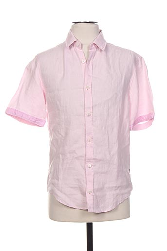 Chemise manches courtes rose HUGO BOSS pour homme