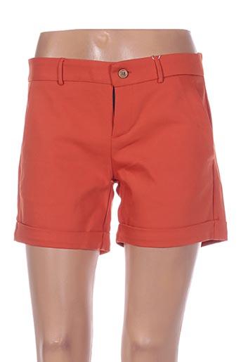 Short orange BÔ-M pour femme