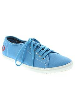Baskets bleu FRED PERRY pour femme